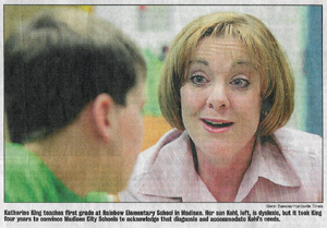 Katherine King teaches first grade at Rainbow Elementary School in Madison. He Son Kohl, left, is Dyslexic, but it took King four years to convience Madison City Schools to acknowledge that diagnosis and accomidate Khol's needs.